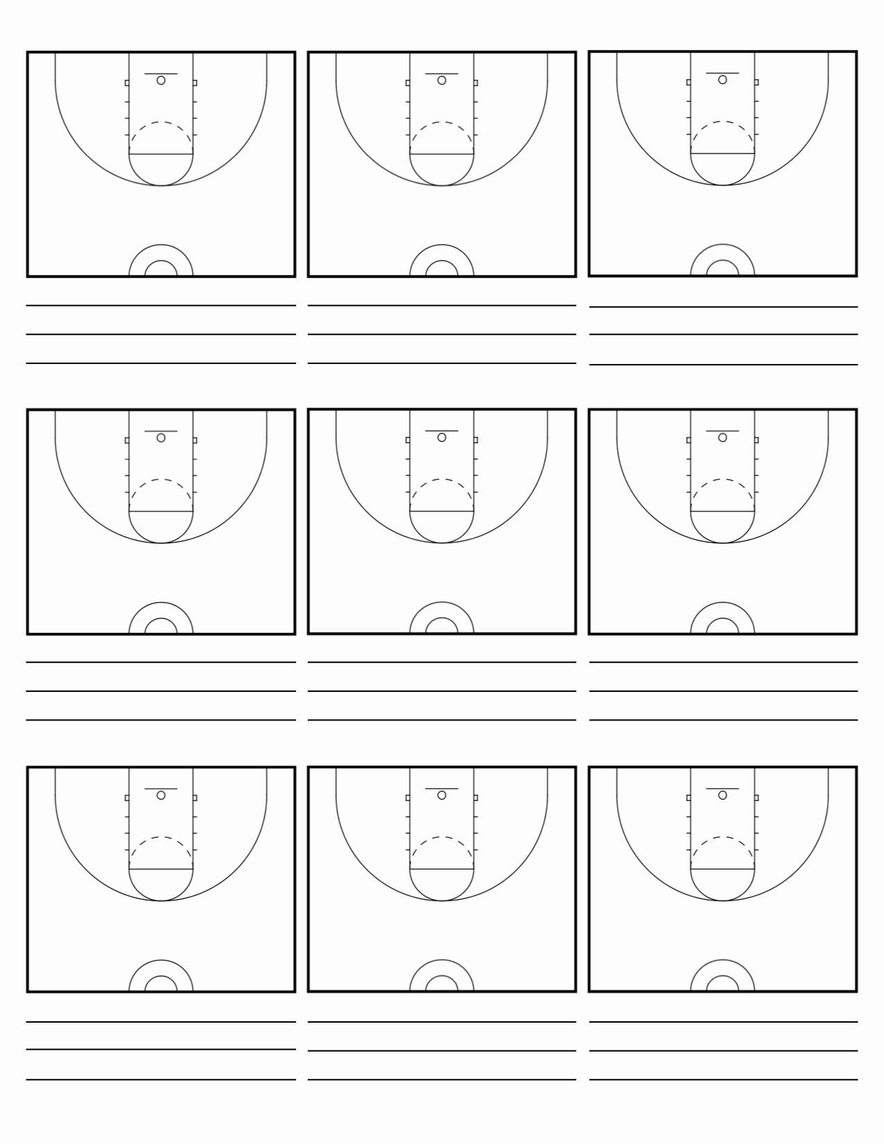 Basketball Play Diagram Luxury Custom Court Diagram Sheets