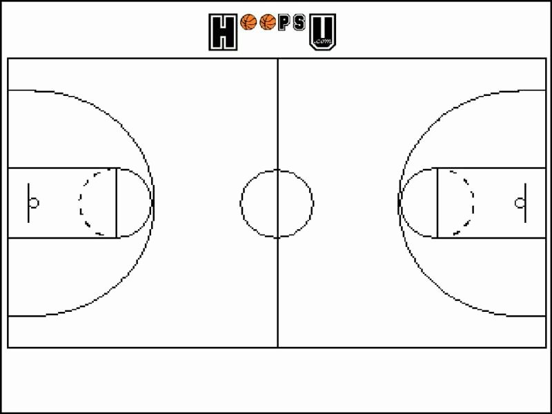 Basketball Play Diagram Unique Best S Of Printable Basketball Court Template