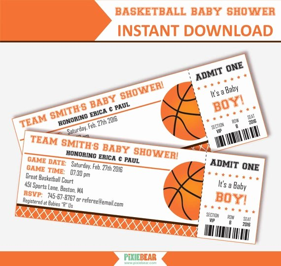 basketball baby shower invitation baby