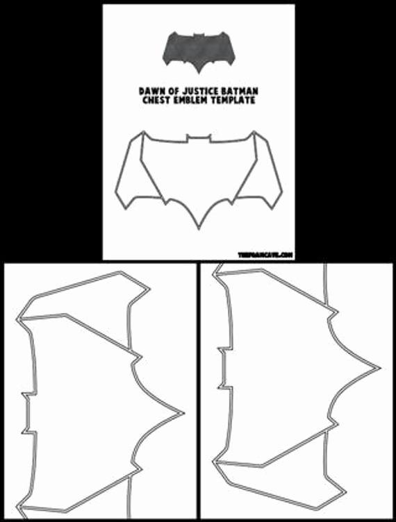 Batman Chest Emblem Unique Template for Dawn Of Justice Batman Chest Emblem From