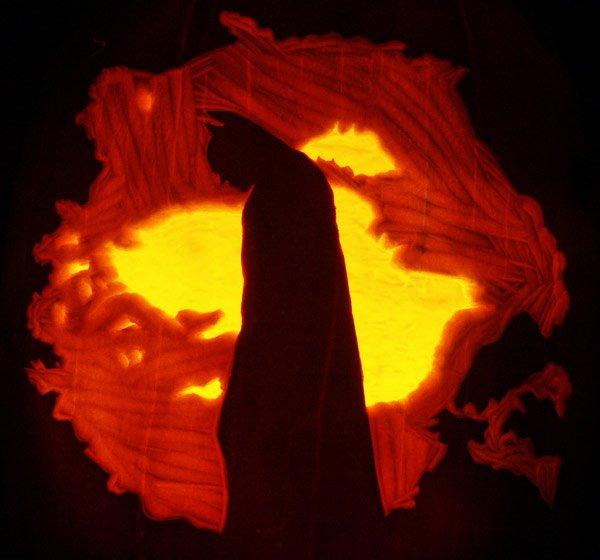 Batman Pumpkin Carving Stencil New Noel S 2005 Pumpkins