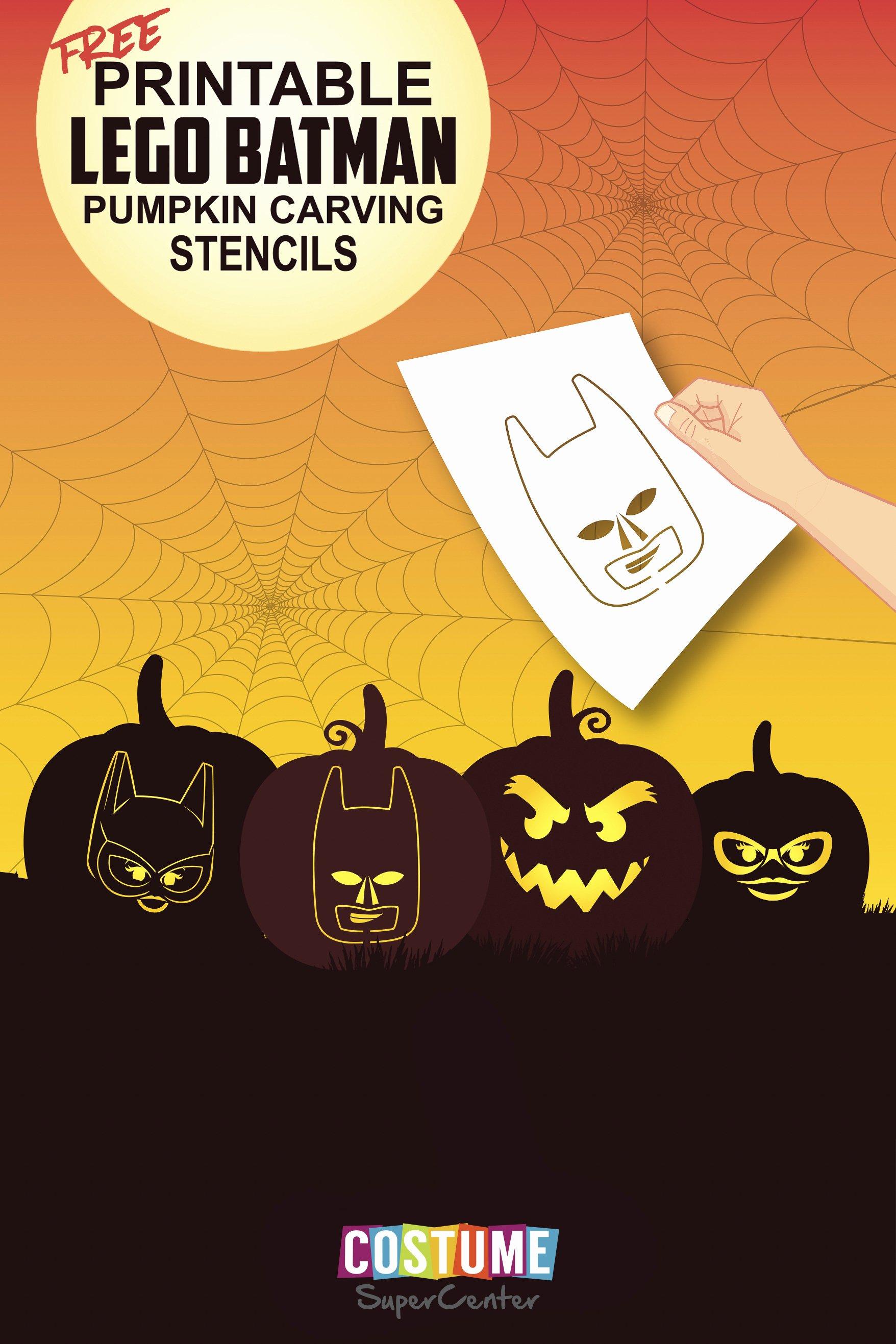 Batman Pumpkin Carving Stencil Unique Lego Batman Pumpkin Carving Stencils