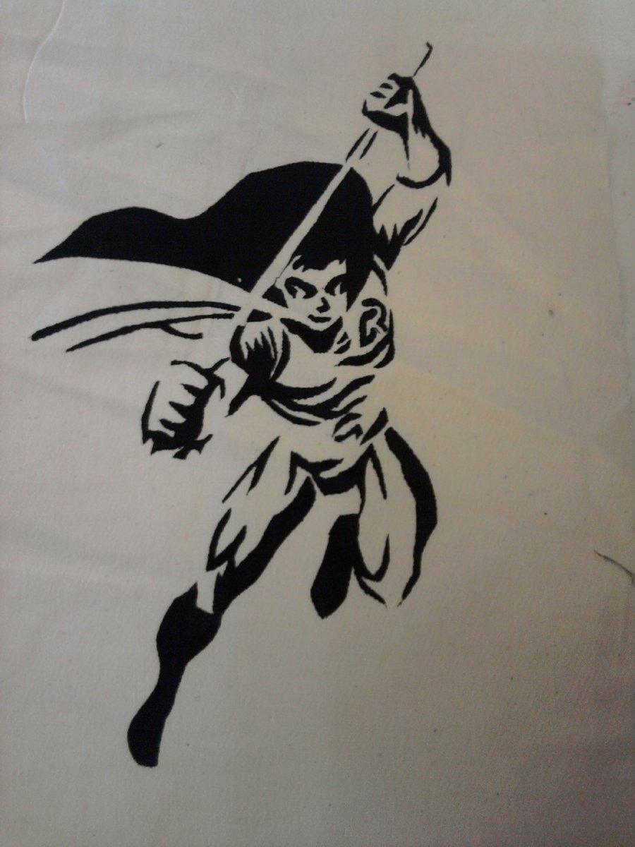 Batman Stencil Art Unique Robin Stencil by Xooaimeeoox On Deviantart