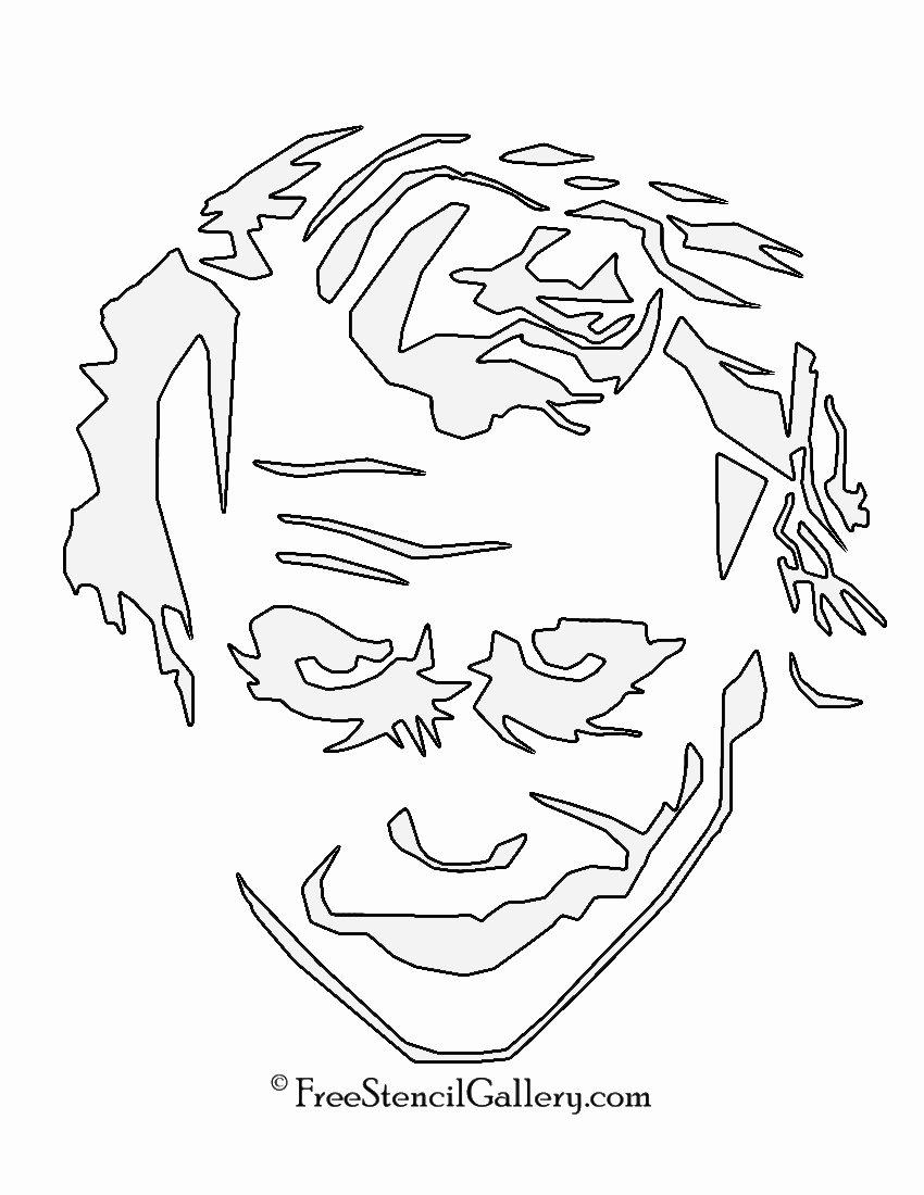Batman Stencil Printable Lovely Joker Stencil 01