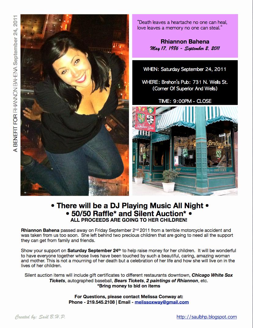 Benefit Flyer Examples Beautiful Blog Saúl Acevedo A Benefit for Rhiannon Bahena Kennedy