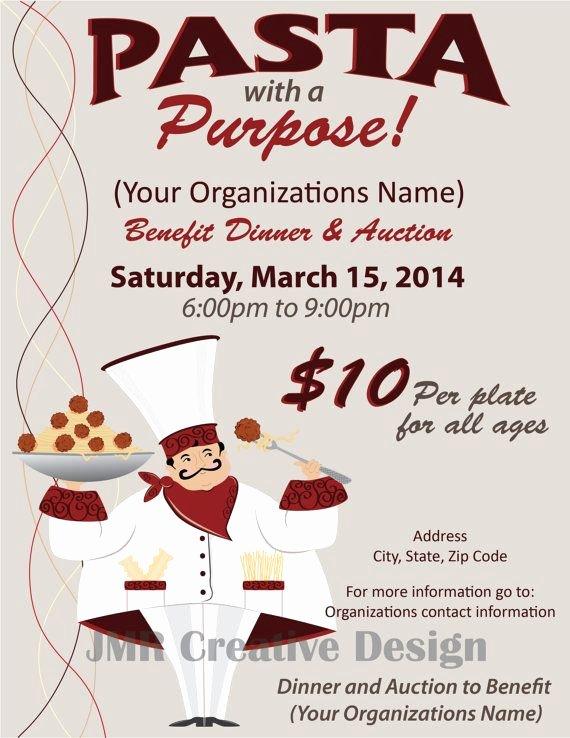 Benefit Flyer Examples Inspirational Spaghetti Dinner Fundraiser Italian Dinner Fundraiser