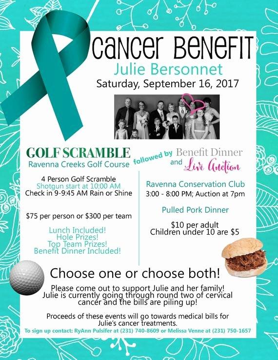 Benefit Flyer Examples New Cancer Benefit Flyer Design