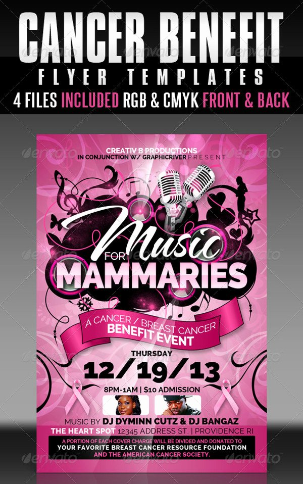 Benefit Flyer Template Best Of 20 Breast Cancer Flyer Templates & Creatives Psd Ai