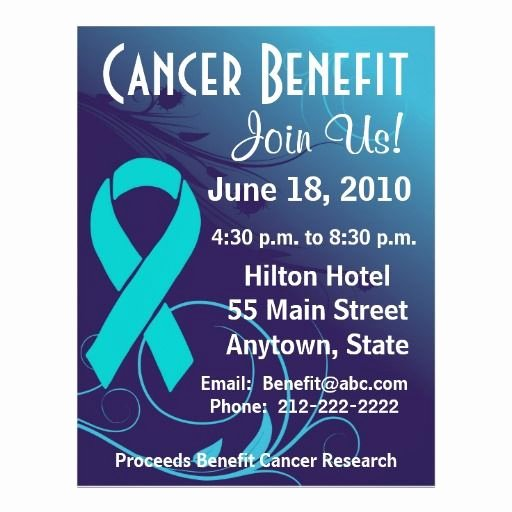 Benefit Flyer Template Fresh 15 Best Fundraiser Benefit Flyers for Cancer and Health