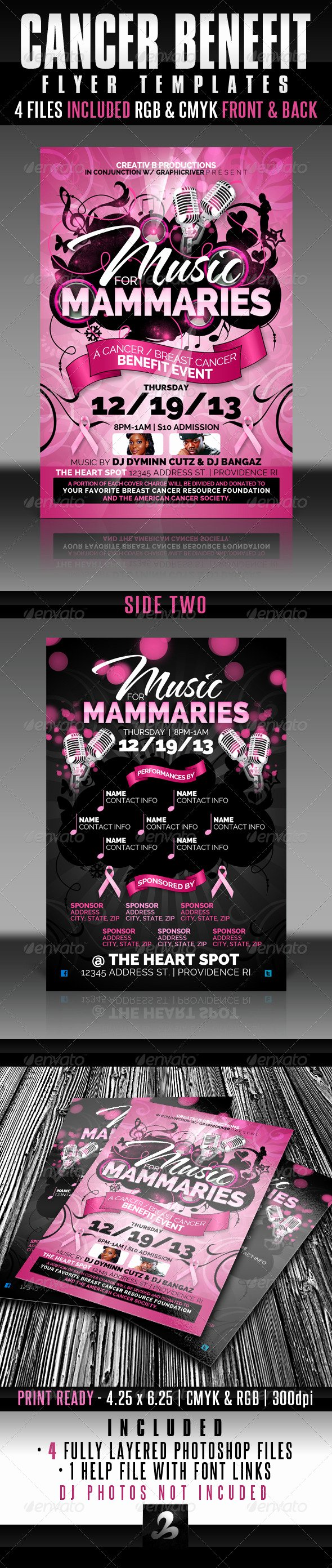 Benefit Flyer Template New Cancer Benefit Flyer Templates by Creativb