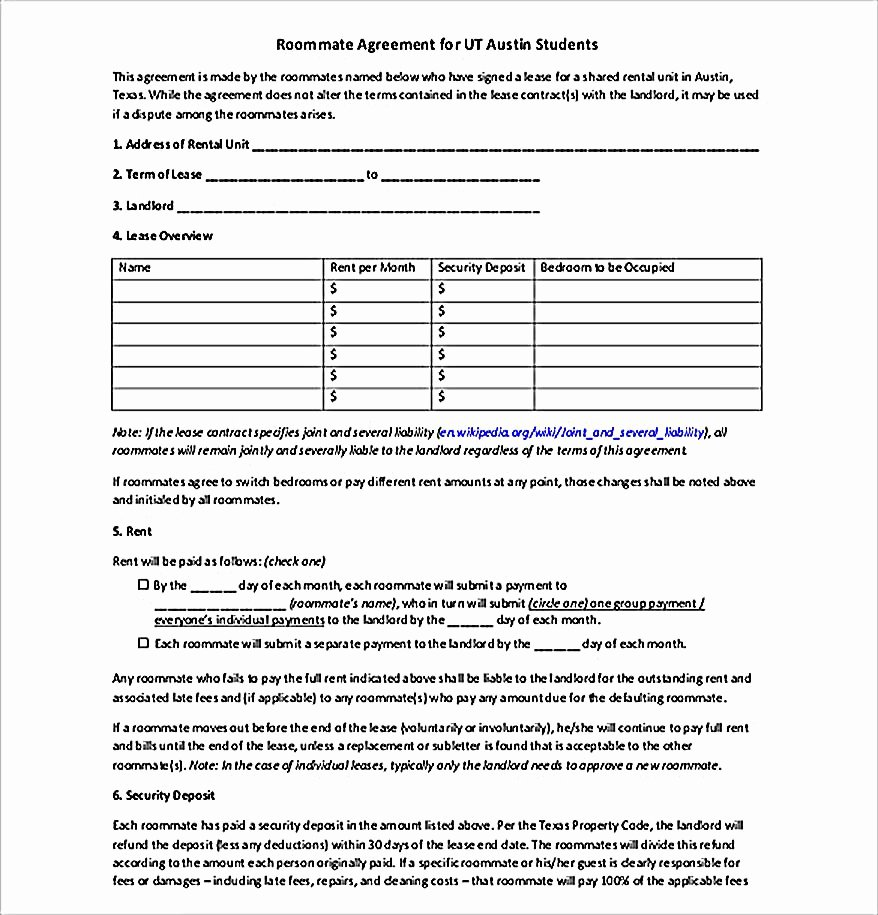 Big Bang theory Roommate Agreement Pdf Beautiful How to Create Your Own Roommate Agreement Template Easily
