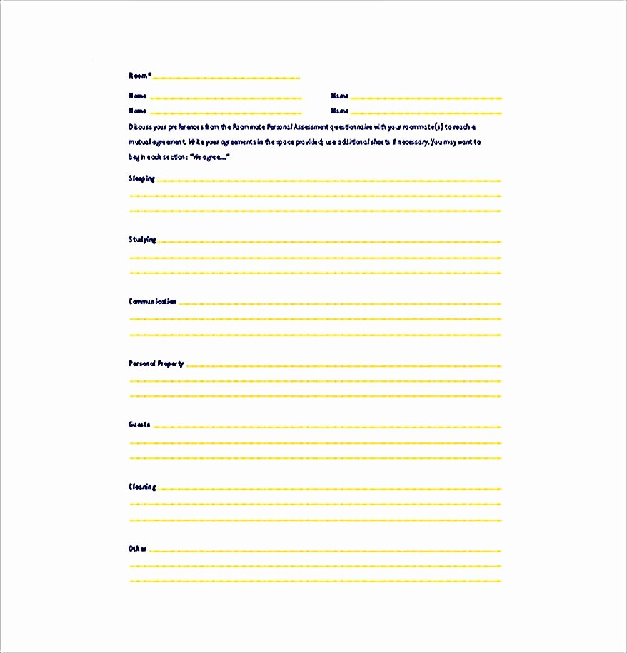 Big Bang theory Roommate Agreement Pdf New How to Create Your Own Roommate Agreement Template Easily