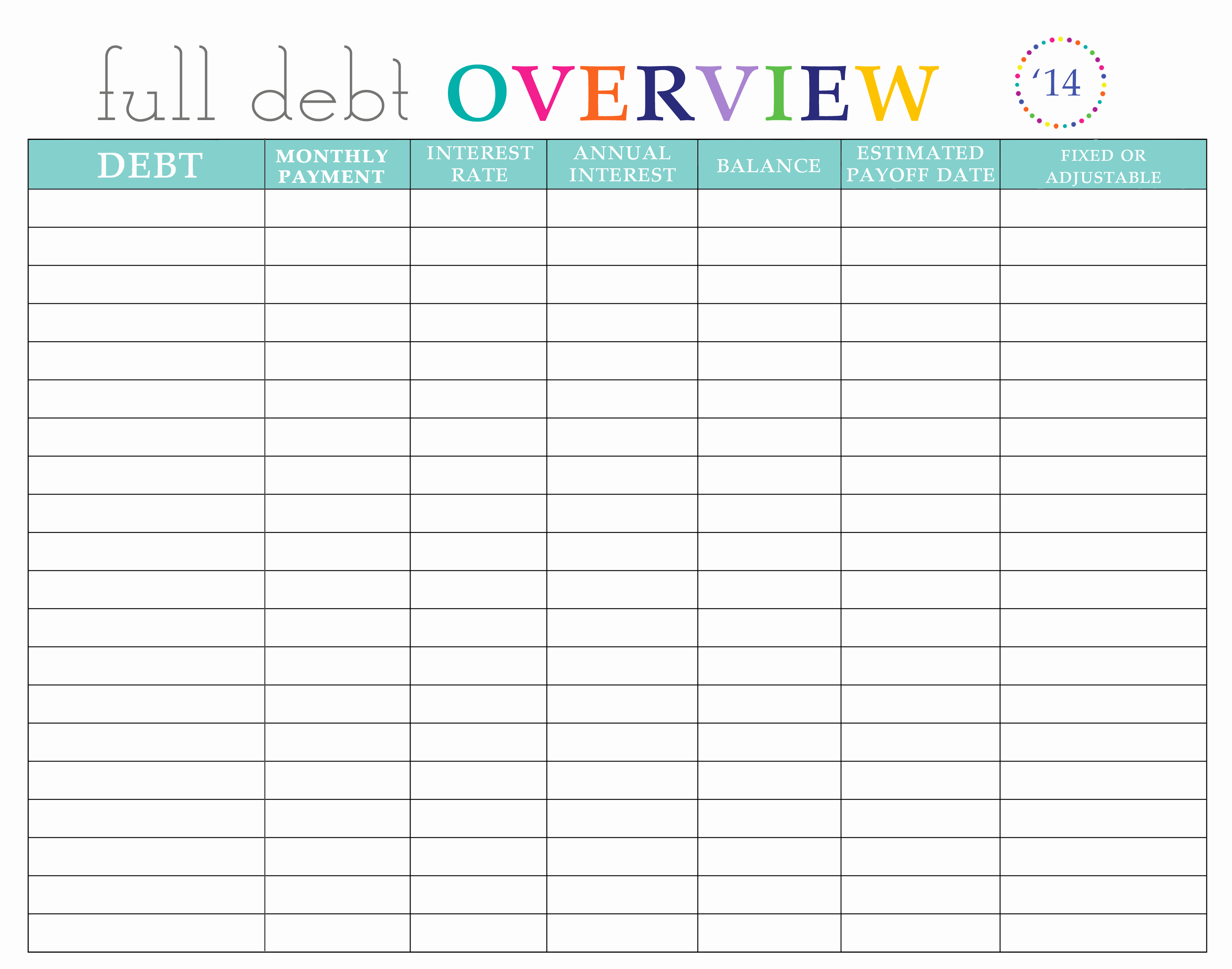 Bill Pay Spreadsheet Lovely Paying Off Debt Worksheets