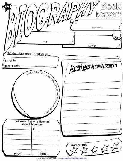 Biography Report Template Pdf Awesome We Have Added Another Book Report Poster to Our Collection