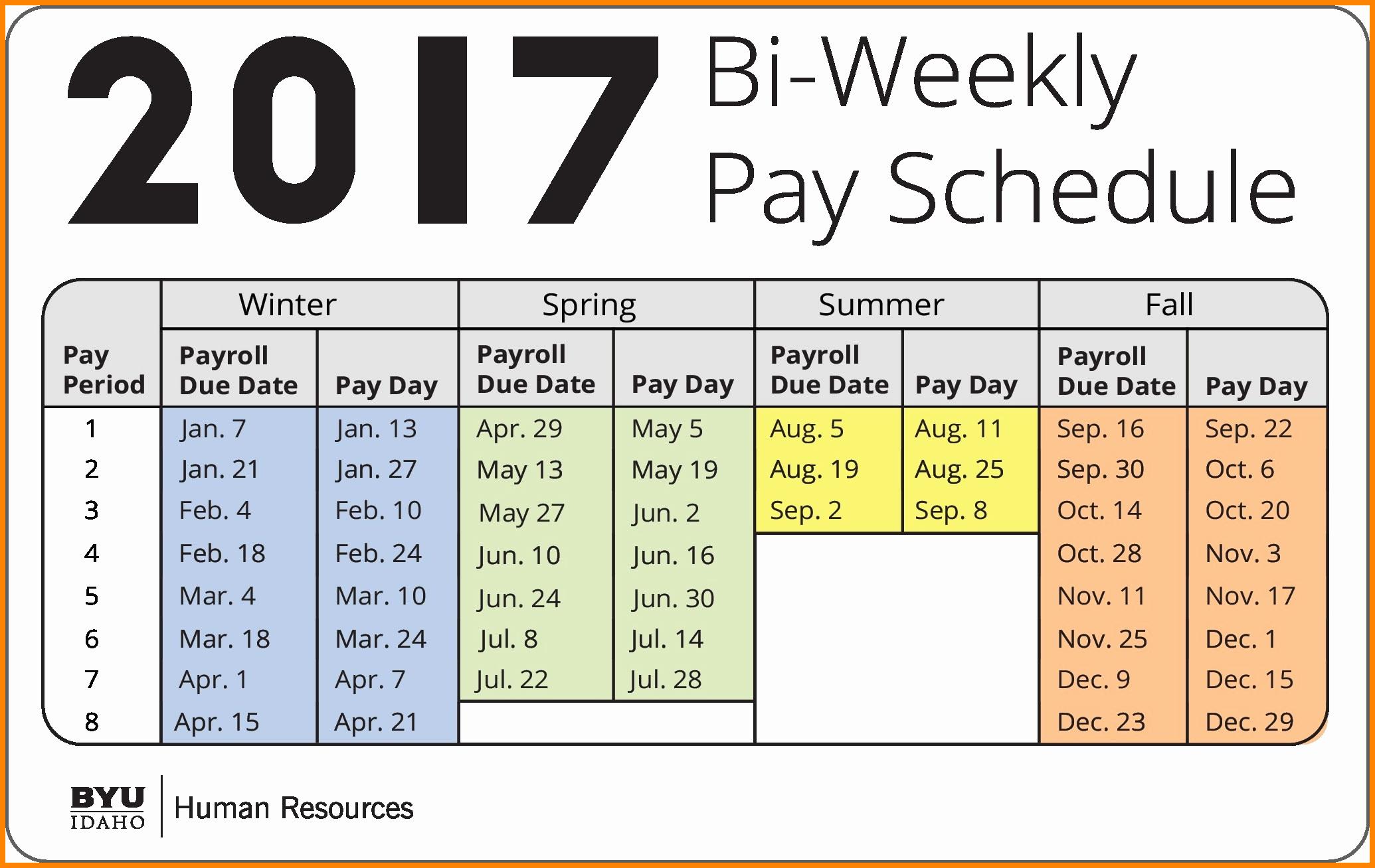 7 bi weekly payroll calendar