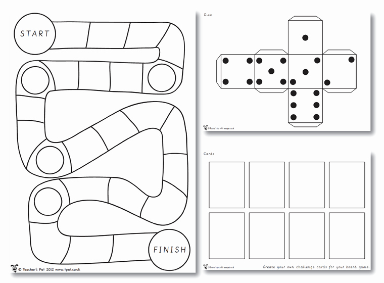 Blank Dice Template Fresh Make Your Own Board Game Party Ideas Pinterest
