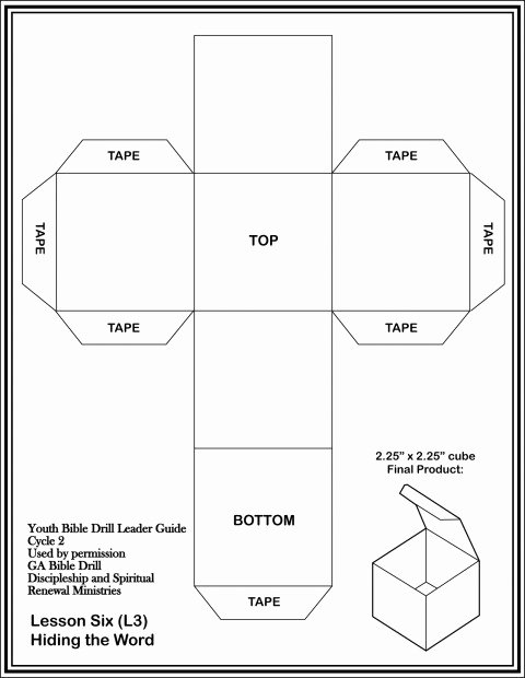 Blank Dice Template Luxury Cube Template
