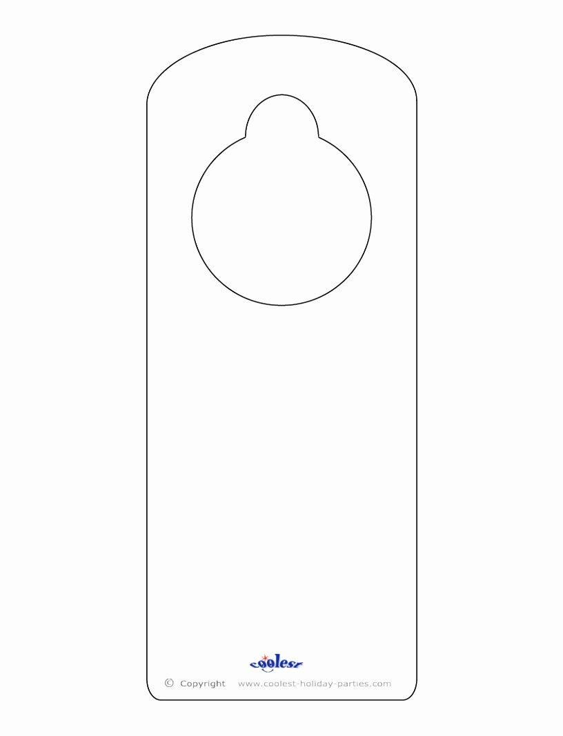Blank Door Hanger Template for Word Awesome 9 Door Knob Templates Printable Arupr