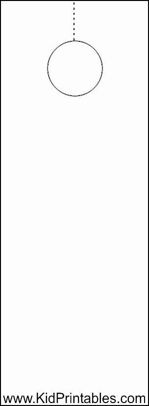 Blank Door Hanger Template for Word Awesome Blankdoorhanger bytes