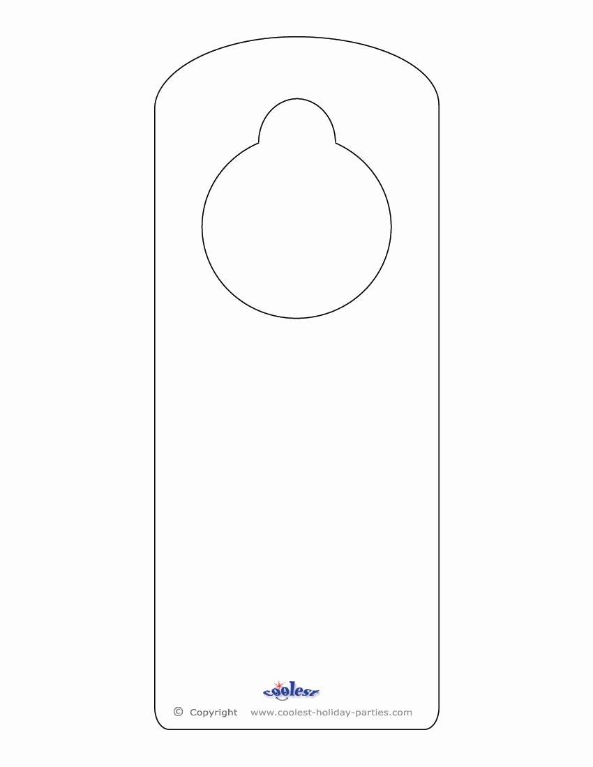 Blank Door Hanger Template for Word Best Of Blank Printable Doorknob Hanger Template