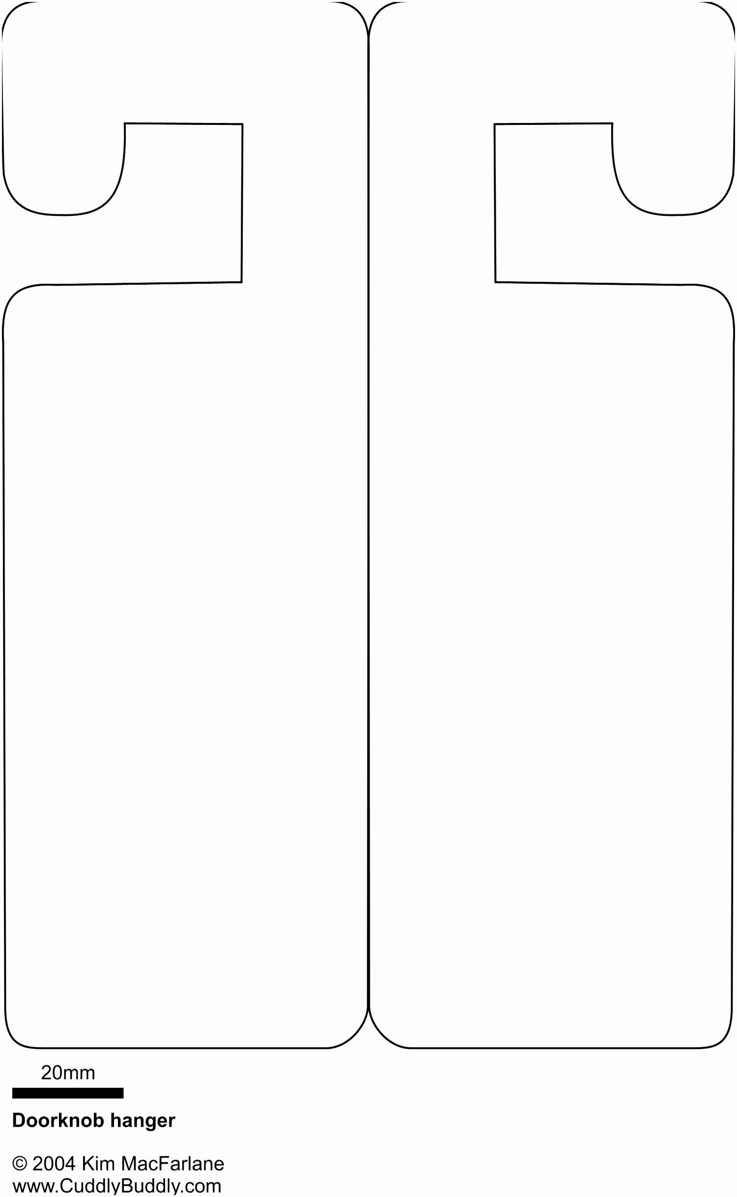 Blank Door Hanger Template for Word Elegant Door Hanger Template for Publisher Blank Free Download
