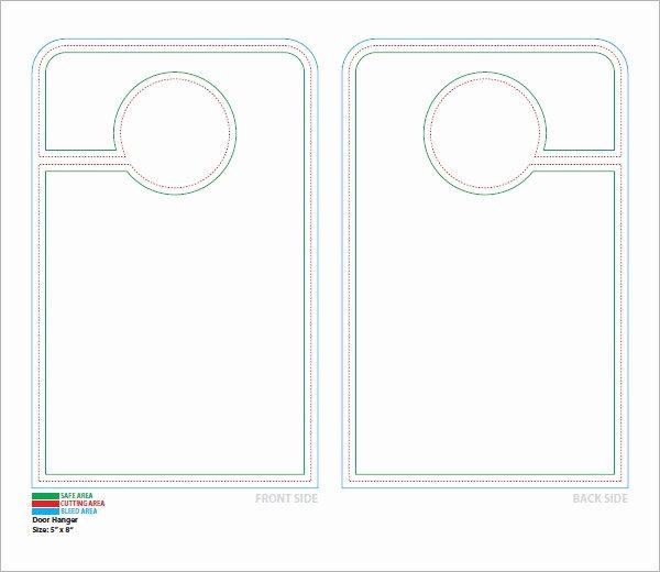 Blank Door Hanger Template for Word Unique 14 Door Hanger Templates