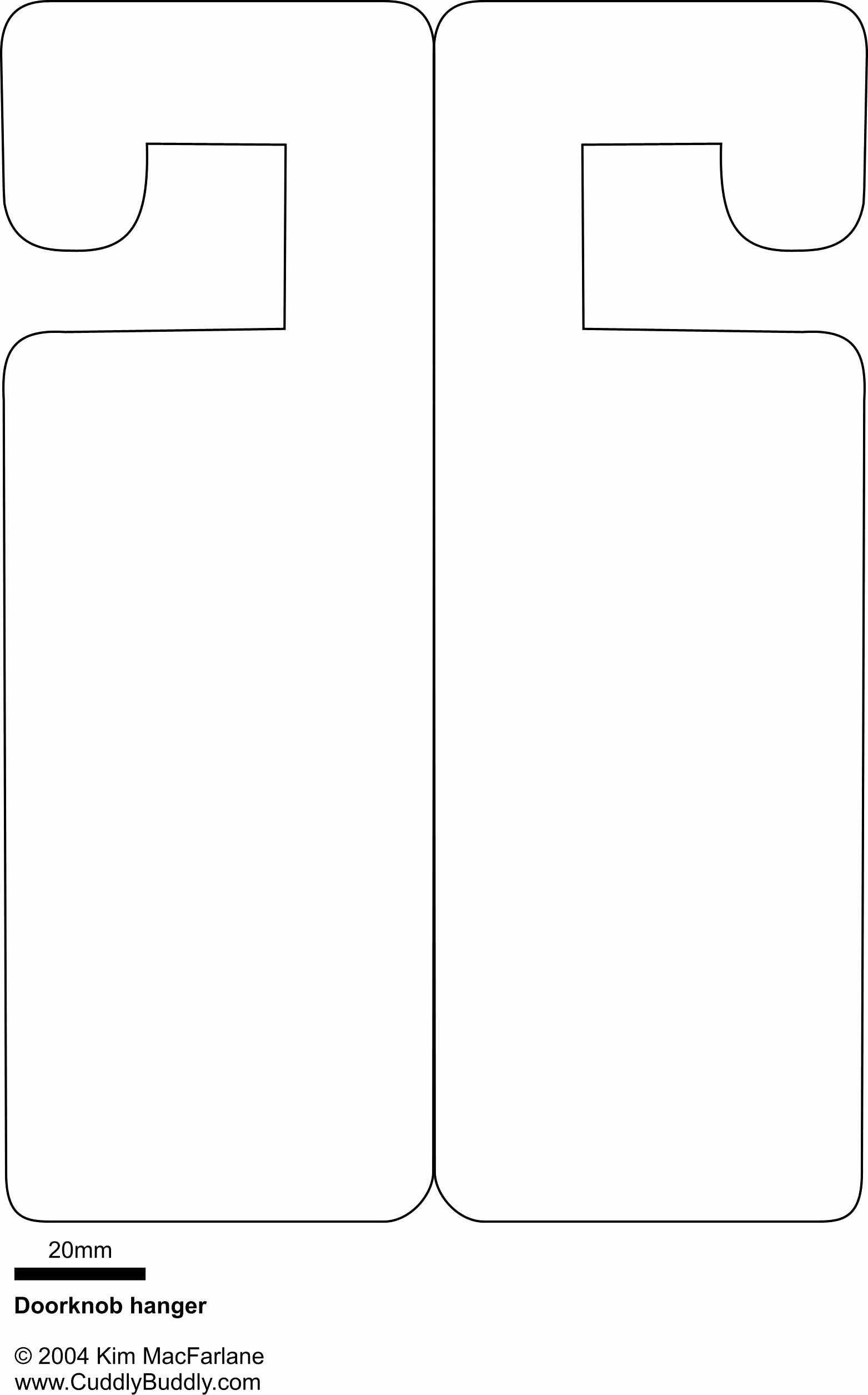 Blank Door Hanger Template for Word Unique Door Hanger Template