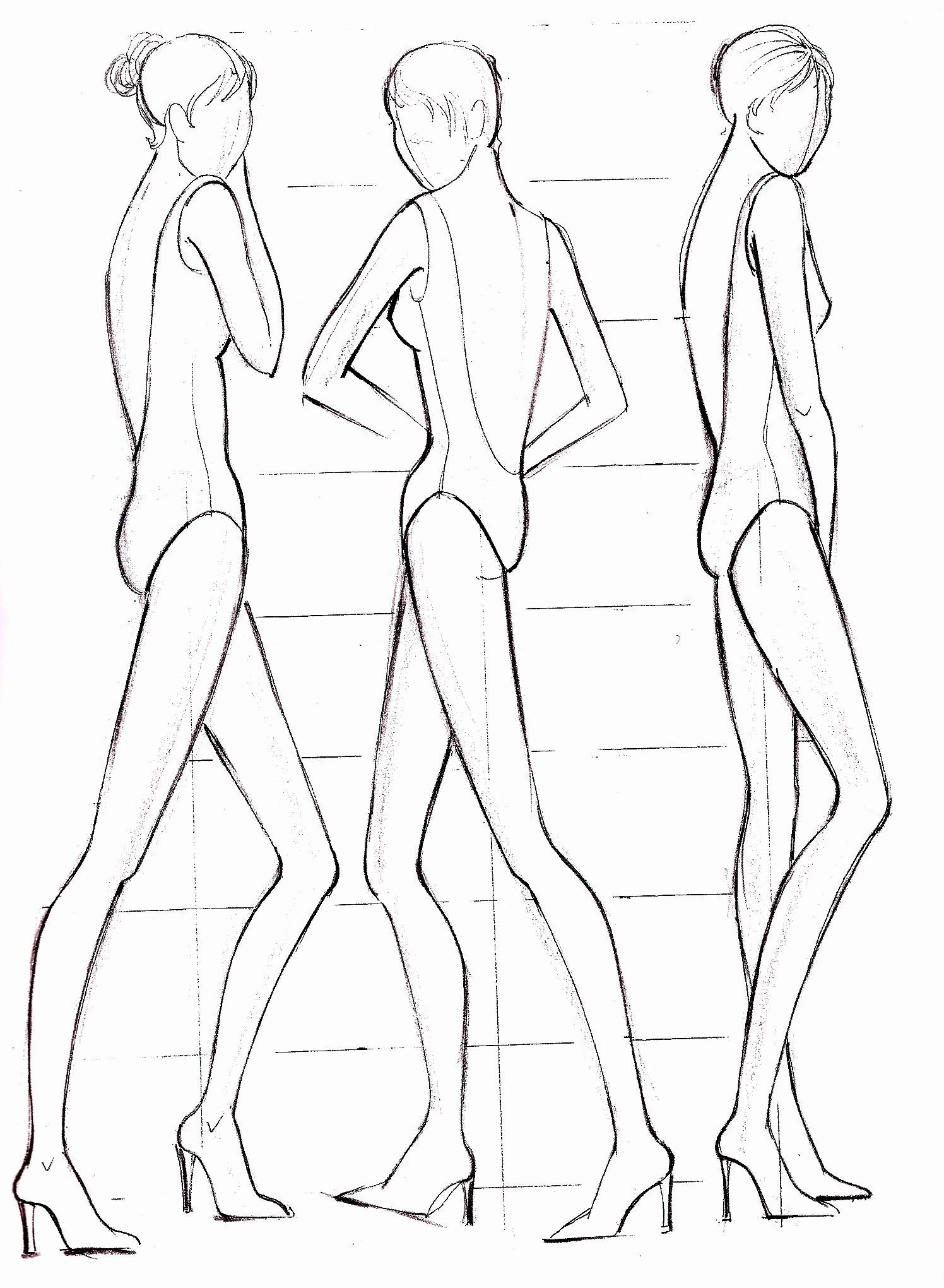 Blank Female Body Template Inspirational Pin Fashion Figure Templates On Pinterest