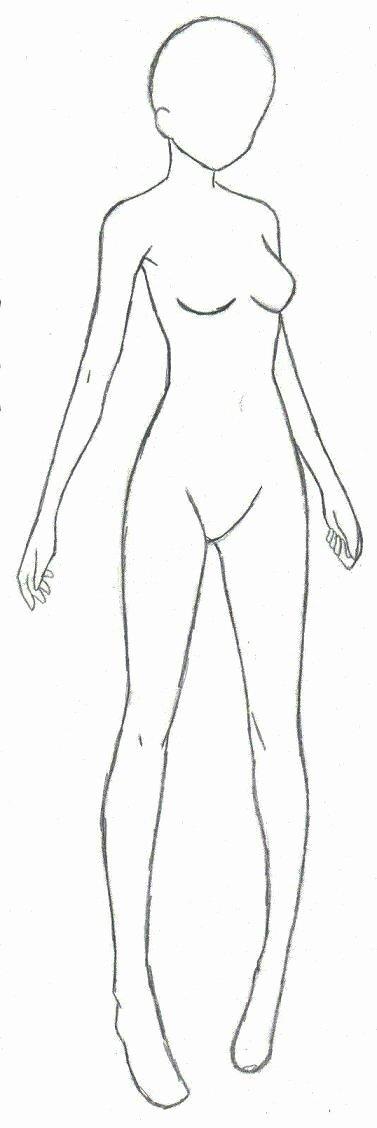 Blank Female Body Template Luxury Anime Girl Body Outline – 101 Clip Art