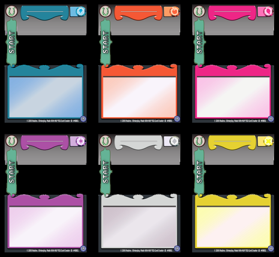 Blank Game Card Template Awesome Mlp Ccg Update 5 by Abion47 On Deviantart