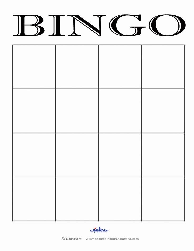 Blank Game Card Template Elegant Bingo Pelipohja M A T H S