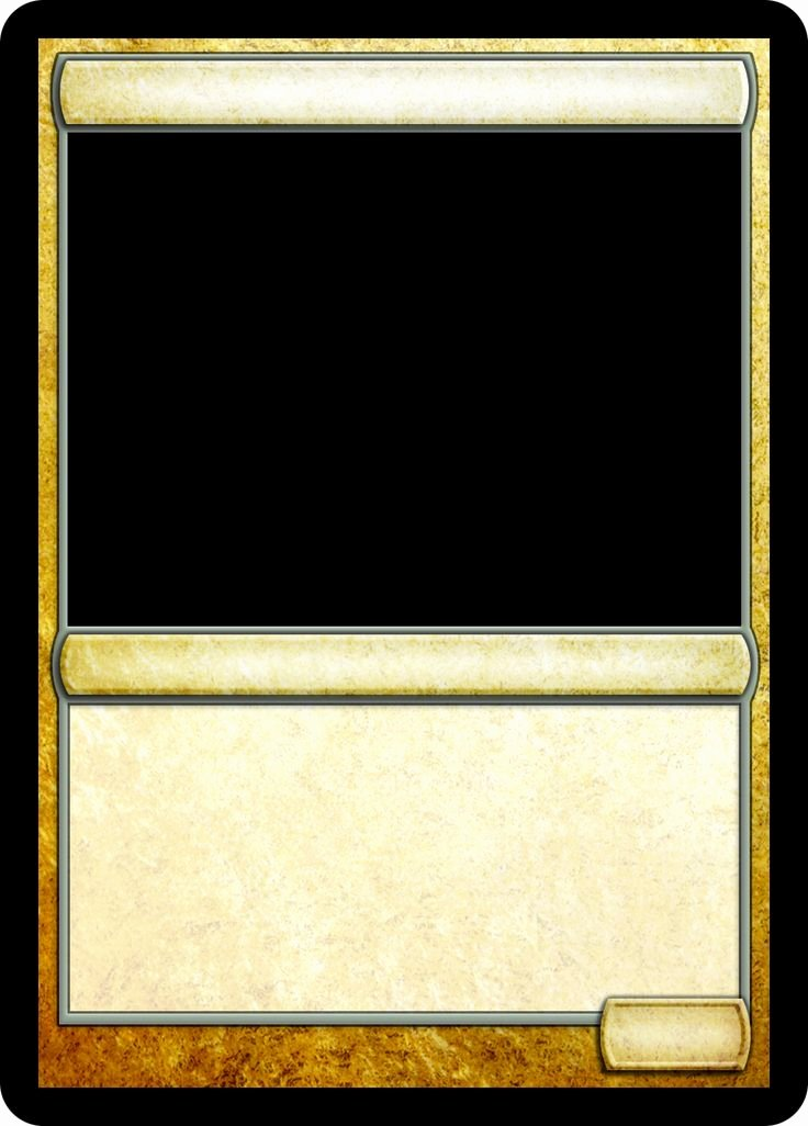 Blank Game Card Template Inspirational 16 Best Images About Mtg Templates On Pinterest