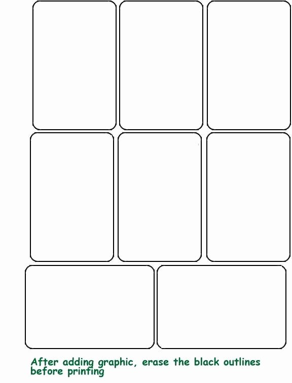 Blank Game Card Template Inspirational Blank Template Hrac Karty