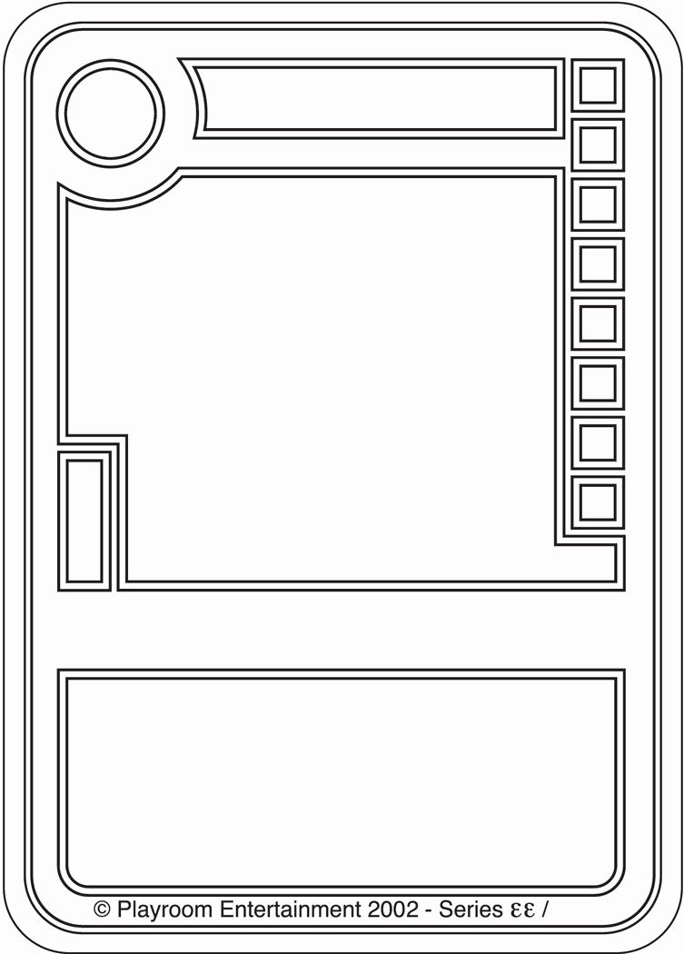 Blank Game Card Template Inspirational Blank Trading Cards
