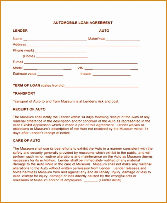 Blank Loan Contract Awesome 8 Blank Loan Agreement Template Besttemplates