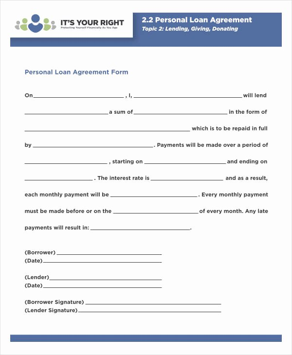 Blank Loan Contract Unique 35 Loan Agreement forms In Pdf