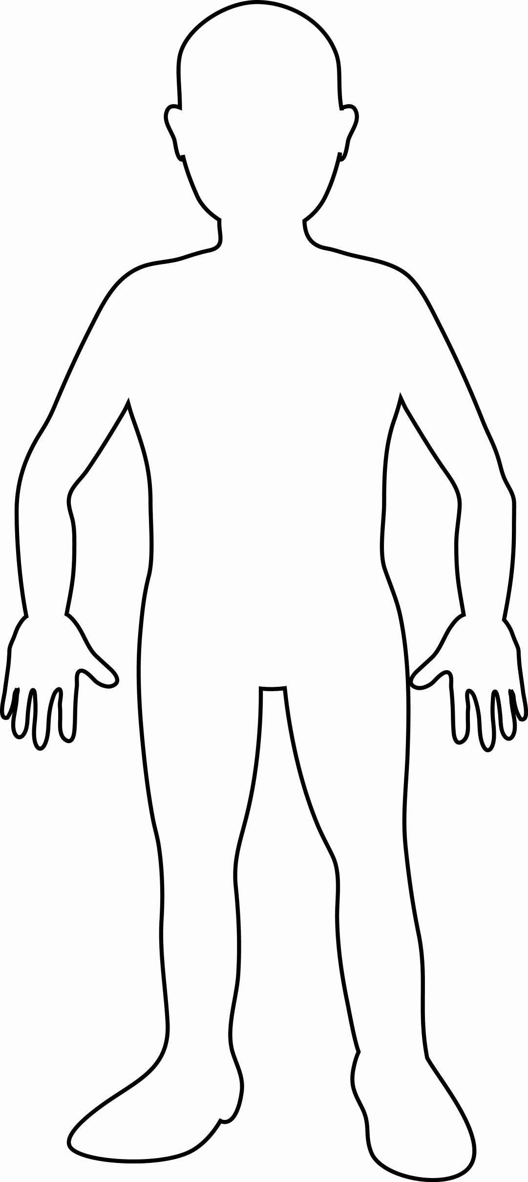 Blank Male Body Template Elegant Templates Clipart Body Pencil and In Color Templates
