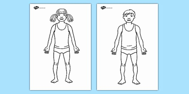 Blank Male Body Template Fresh Body Template Worksheet Hospital Role Play Hospital