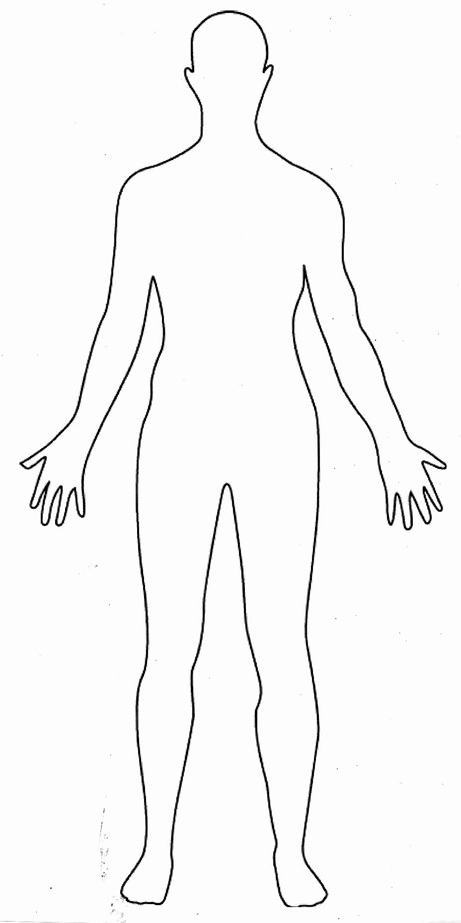 Blank Male Body Template New Symptoms Of Anxious Body Reactions