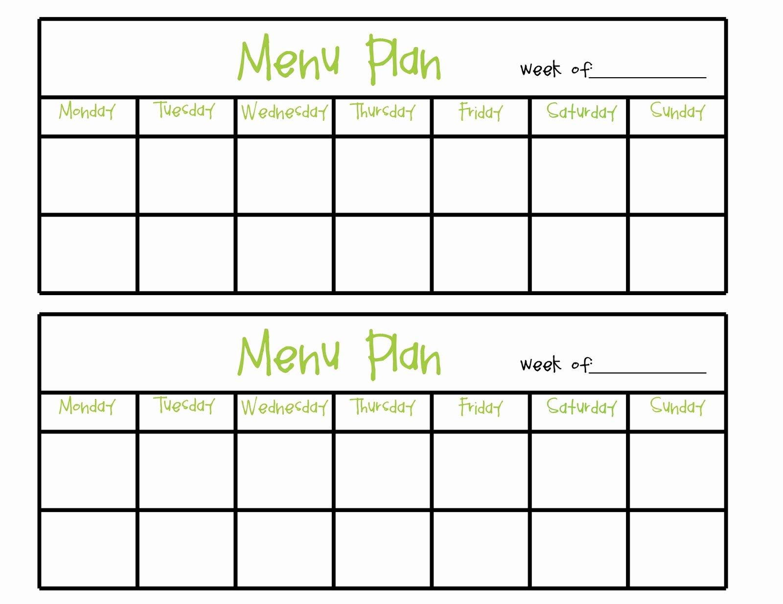 Blank Menu Template Awesome Simply Plicated Menu Planning
