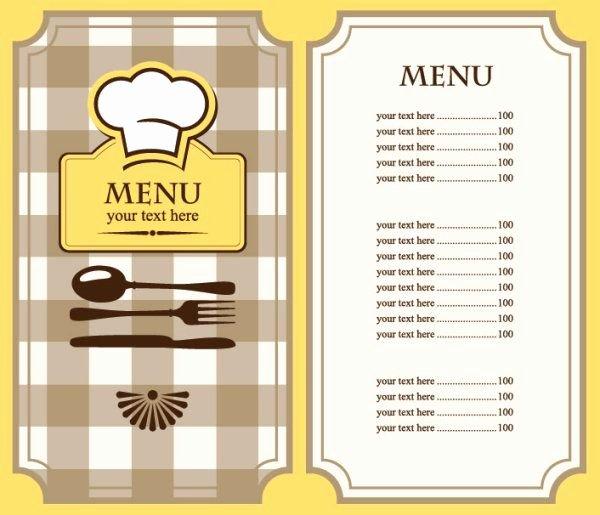 Blank Menu Template Lovely Best 25 Restaurant Menu Template Ideas On Pinterest