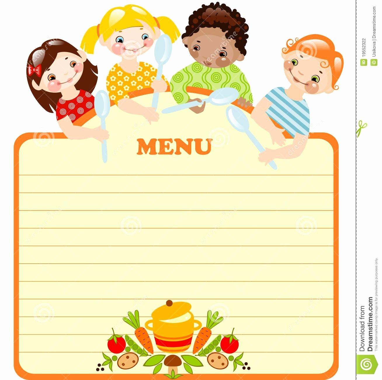Blank Menu Template Lovely Blank Kids Menu Template Invitation Templates