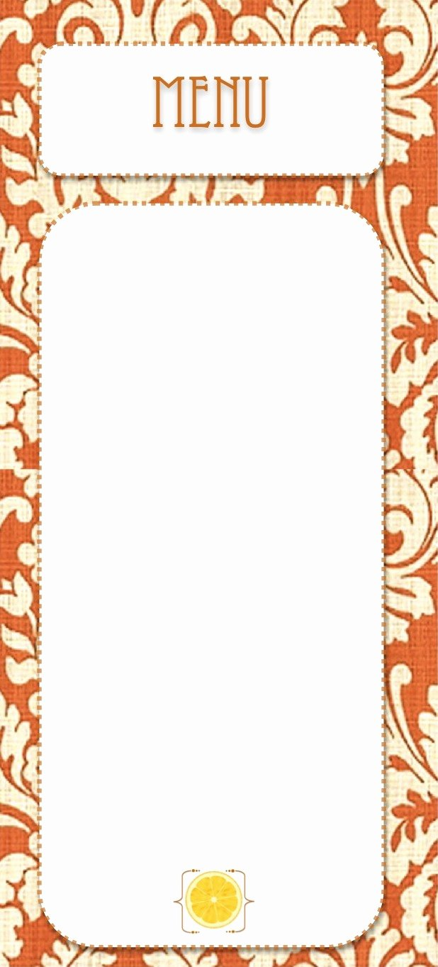 Blank Menu Template Lovely Free Printables Creative Juice
