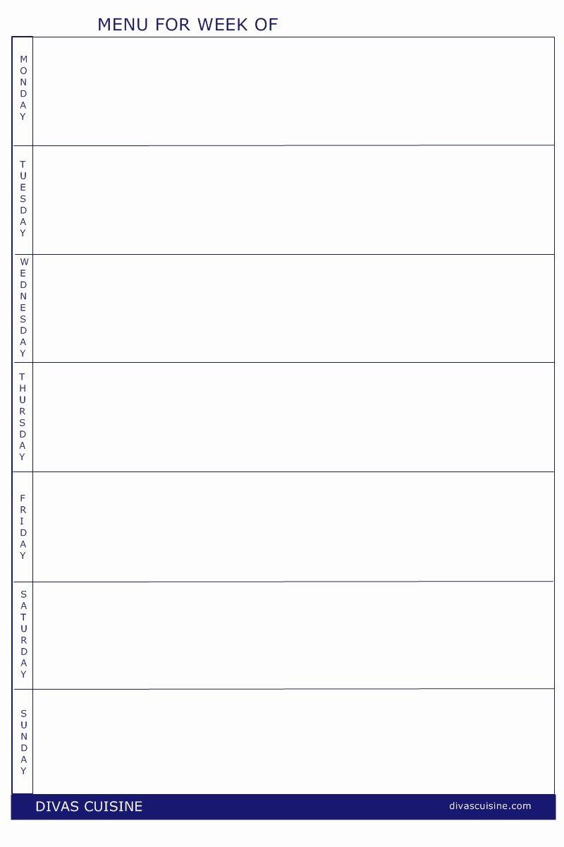 Blank Menu Template Lovely Menu Printable Gallery Category Page 1 Printablee