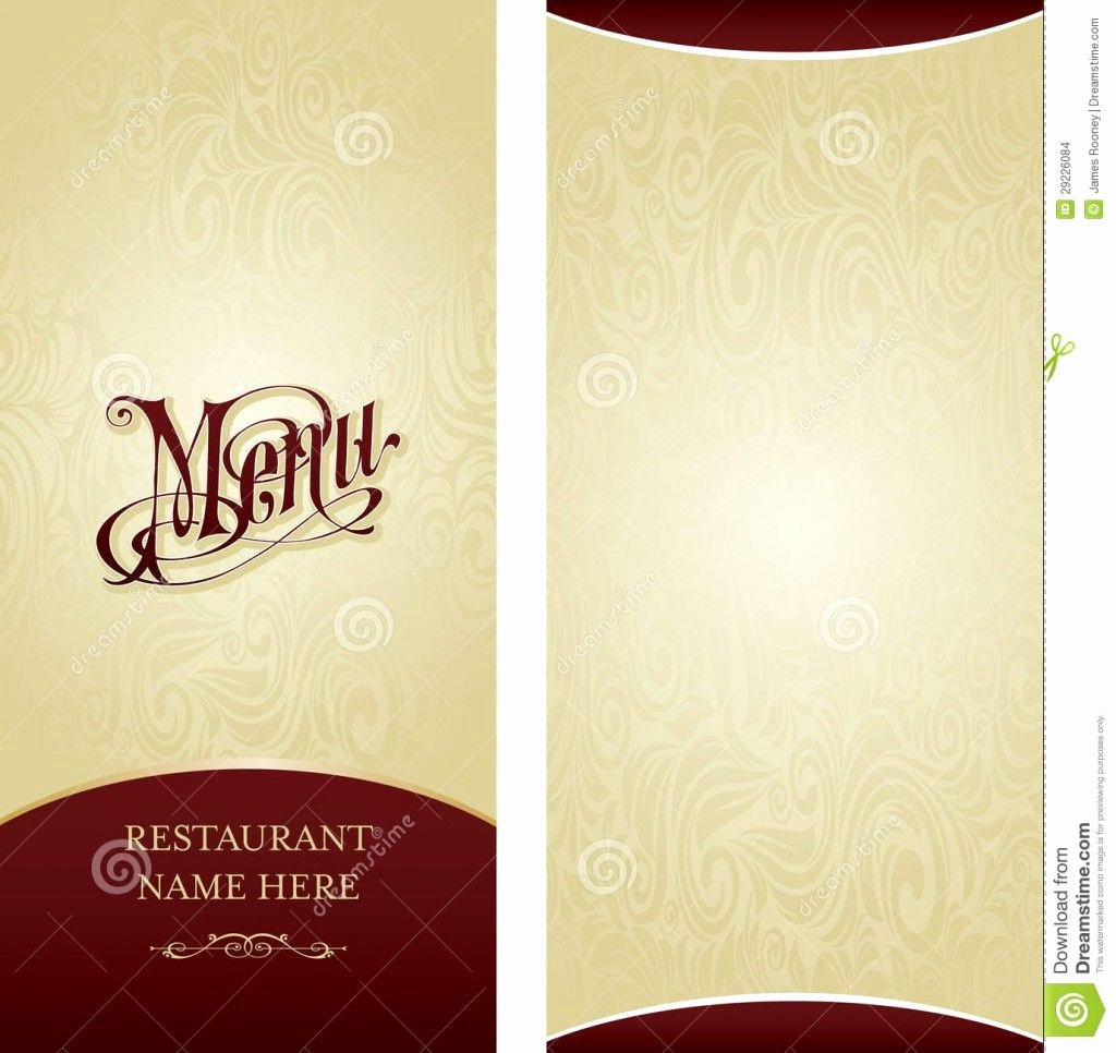 Blank Menu Template New Design Your Own Restaurant