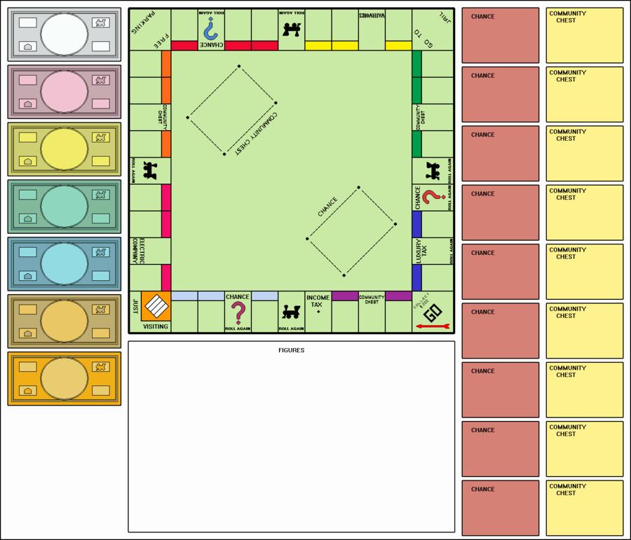 Blank Monopoly Board Awesome Blank Monopoly Board by Clampfan101 On Deviantart
