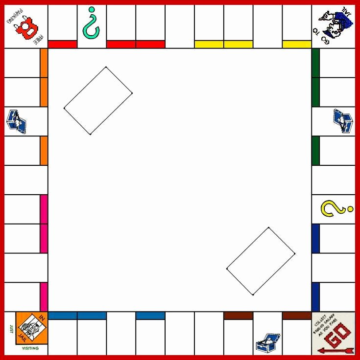 Blank Monopoly Board Best Of Board Game Template Monopoly 1 2 3 A B C