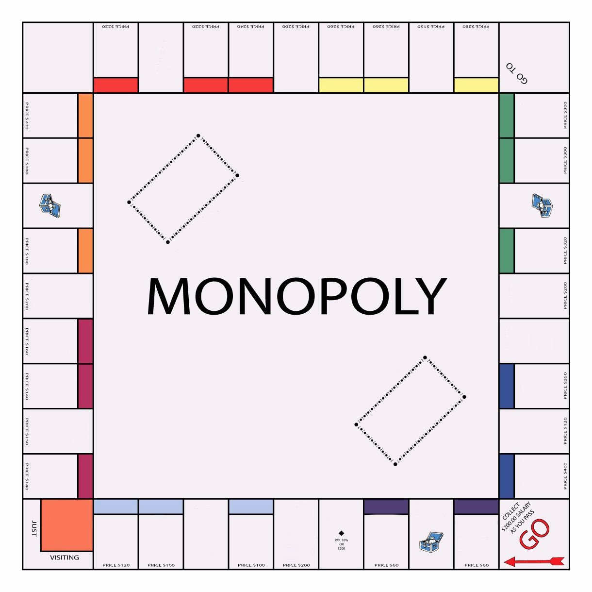 Blank Monopoly Board Unique Create Your Own Monopoly Board Ednews