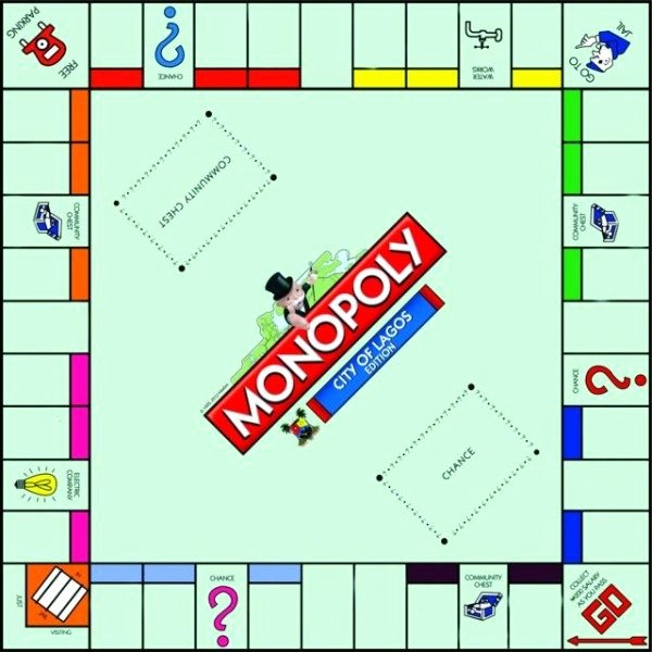 """Blank Monopoly Board Unique the """"city Lagos Edition Monopoly"""" is Here Bestman"""
