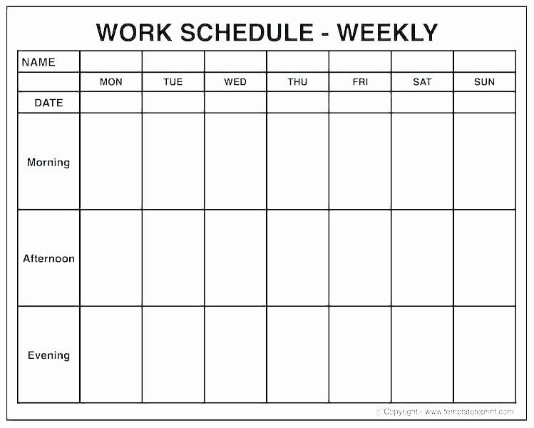 Blank One Week Calendar New Printable E Week Calendar